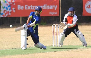 Dhanpaul Chrisnanand crashed 3 fours and 5 sixes in his 51 runs not out to lead the Cavaliers charge.