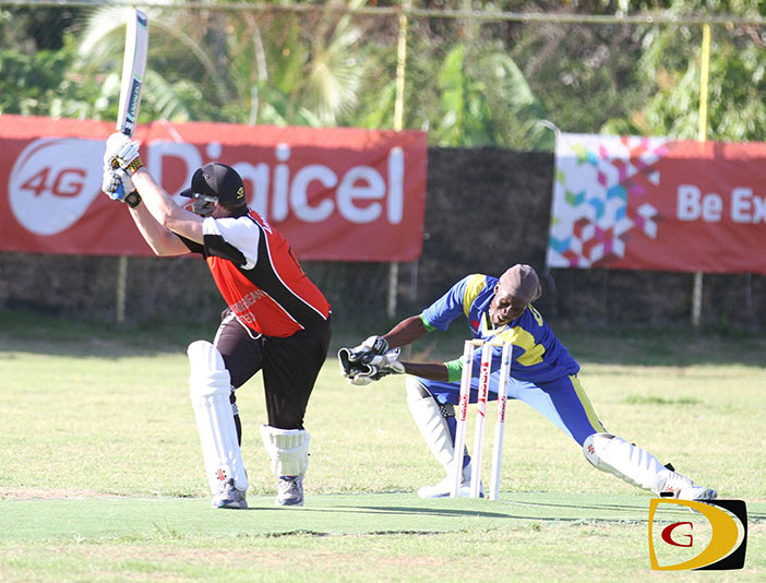 Vikings' Johnny Bailey will play and integral role on Sunday in helping them win their first title. Here he smashes a six against Vincy in the final Super Six Stage match