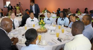At the National Prayer Breakfast, students that made up the leadership of their schools and those that are registered for the highest number of CXC subjects were guests of Territorial Representative and Minister for Education, Culture and Youth Affairs, Hon Myron V. Walwyn.