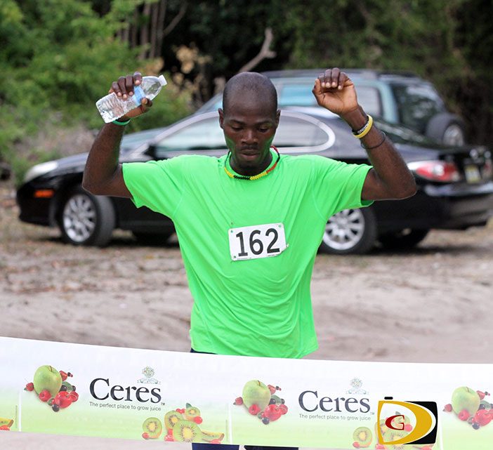 Julius Farley wins Saturday's Ceres 10K race on Beef Island