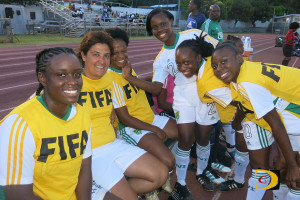 BVI players during a half time break