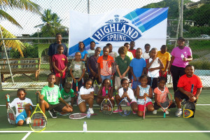 Participants in the Long Look East End Tennis Club Fun Day kickoff