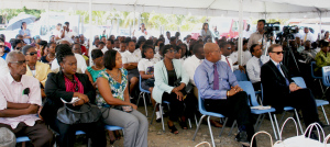 His Excellency Governor John Duncan, Ministers, Students, Authorities, Invitees at the Inaugural Ceremony