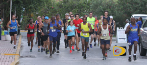 Runners take off in the final race of the Ceres Juices 10K Series on Saturday afternoon