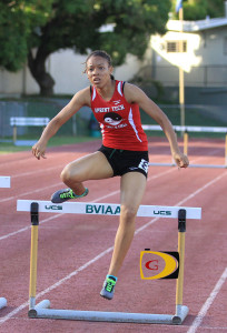 Deya Erickson became the fastest 100m Hurdler in the territory's history, when she ran 14.09 seconds in Puerto Rico on Saturday