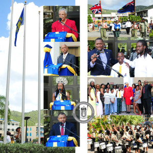 Scenes from Commonwealth Day 2015 celebrated on Monday, March 11 where the Office of the Deputy Governor hosted the Territory's inaugural celebration for the Fly a Flag for the Commonwealth Initiative. Ten year old Jaleel Cameron hoisted the Commonwealth Flag and raised over $1000 at the ceremony to donate to the Children's Unit at the new Peebles Hospital.  To date, he has raised over $6,000 which he plans to present to the hospital by the end of this month.