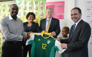 Andy Davis, FA Treasurer and National Captain, presented the Prince with a team shirt