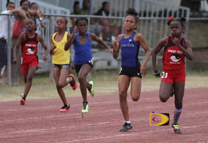Under 11 Girls competing in the 150m on Saturday afternoon in the Premier Dental Youth Championships