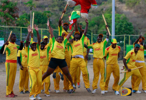 Grenada celebrates their 85 runs victory over Vincy for their first BVI Cricket Association LIME Twenty 20 title