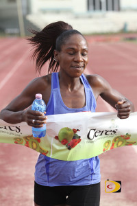 Rosmond Johnson was the only woman under 50 minutes in Saturday's Ceres Juices 10K Series race, winning in 49 minutes and 23 seconds