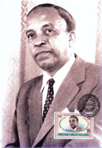 With the Territory celebrating the centennial of Dr. The Hon. Willard Wheatley, MBE, LLD (1915-1997) here comes a rare Maximum Card with the stamp depicting the BVI statesman. Hon. Wheatley was Member of the Legislative Council of the British Virgin Islands, 1971-1986; BVI Chief Minister 1971-1979; Leader of the Opposition 1979-1983; and Deputy Chief Minister 1983-1986. In the year 2000 the British Virgin Islands issued a set of 7 stamps to salute the 50th Anniversary of the Restoration of the Legislative Council. The stamps depicted BVI Legislators, including the first Chief Minister Hon. H. Lavity Stoutt, and his successor as Chief Minister Hon. Willard Wheatley.