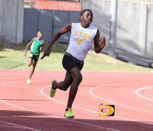 Malakai Smith, a student at the Ebenezer Thomas Primary School, bagged CAC Age Group Championships 60m silver and Baseball Throw bronze