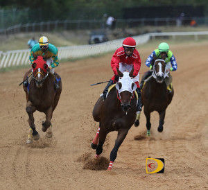 Apollo Sky had a gate to wire victory over Starship Titan, left and Town Hall, who returned to racing after a year's layoff