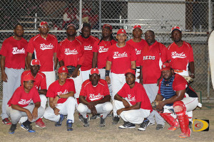 The Reds are playing in their first BVI Softball Association championship
