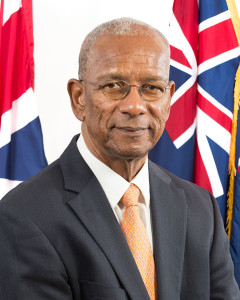 Premier and Minister of Finance, Dr. the Honourable D. Orlando Smith, OBE