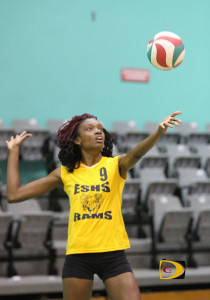 Sheronda Pickering got her Volleyball start at the Elmore Stoutt High School