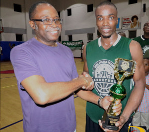 Ray Victor was the Western Division MVP of the Hon Julian Fraser Save the Seed Basketball League