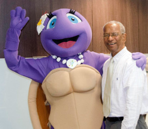 Tola the Turtle and Premier Dr. the Hon. D. Orlando Smith
