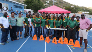 Four members of the first delegation that represented the territory at the Carifta Games in 1976, joined the 2016 delegation to mark the 40th anniversary of BVI athletes participating in the regional championships
