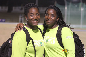 Twin sisters Trevia, left, and Tynelle Gumbs