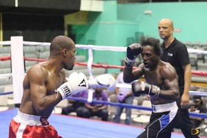 "Julan ""Iron Fist"" Brown, left and Miguel ""Iron Dog"" Ray, battled over eight rounds"
