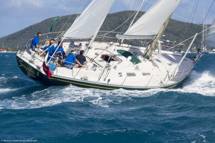 Sayula II sailing in Virgin Gorda's North Sound