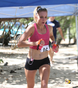 Bree Ray of Las Vegas, Nevada, completes Saturday's 3rd Tortola Torture in a Women's record, 4 hours, 58 minutes and 16 seconds.