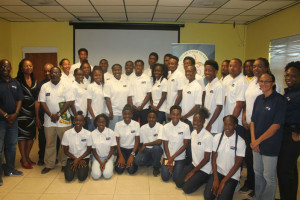 The BVI's Carifta Games delegation was presented during a recent press conference at the Department of Youth Affairs & Sports. PHOTO: Javon Liburd