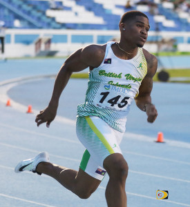 Khari Herbert of St. Augustine University, earned NCAA Division II Outdoor and Indoor Championships All American honors in 2017