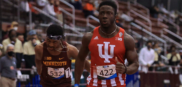 Brathwaite wins Big 10 Conference Indoor Championships 60m with record run